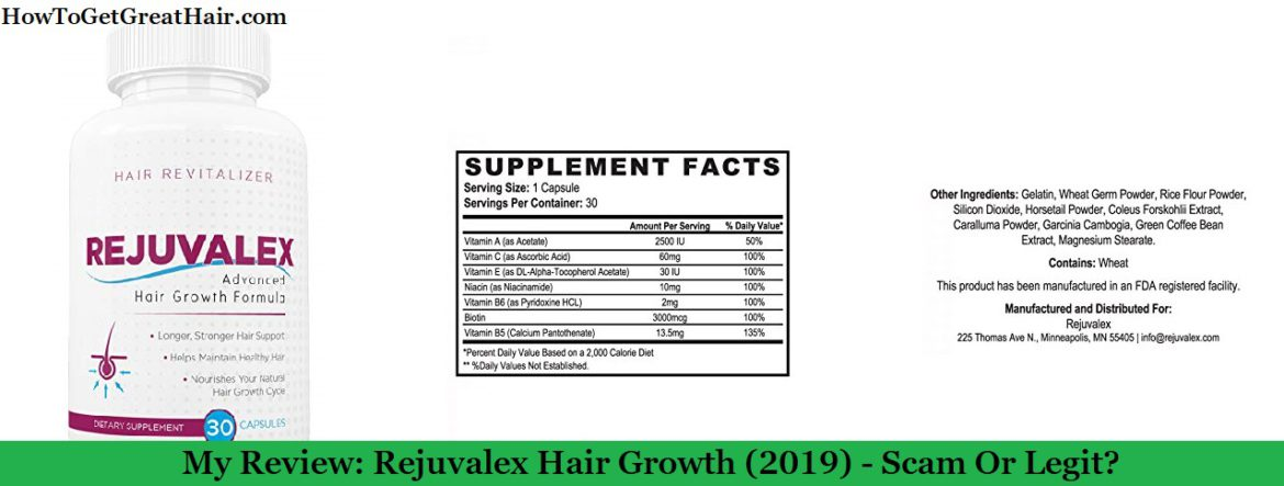 My Review: Rejuvalex Hair Growth (2021) – Scam Or Legit?