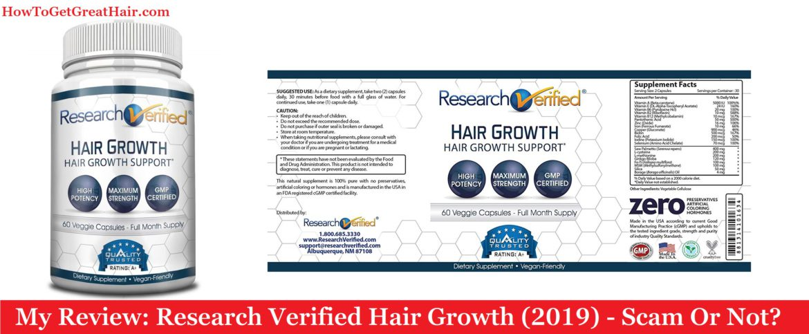 My Review: Research Verified Hair Growth (2021) – Scam Or Not?