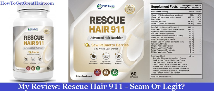 My Review: Rescue Hair 911 (2021) – Scam Or Legit?