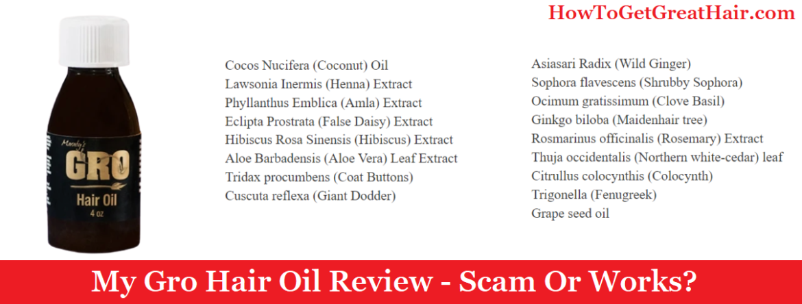 My Gro Hair Oil Review (2021) – Scam Or Works?
